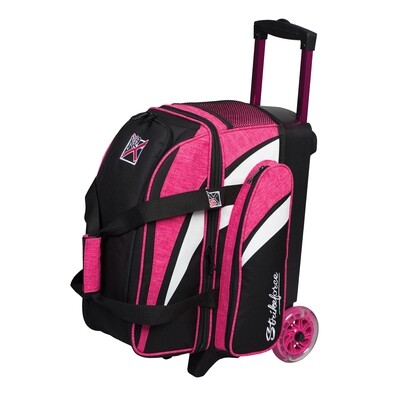 KR Strikeforce Cruiser Pink/White/Black 2 Ball Roller Bowling Bag