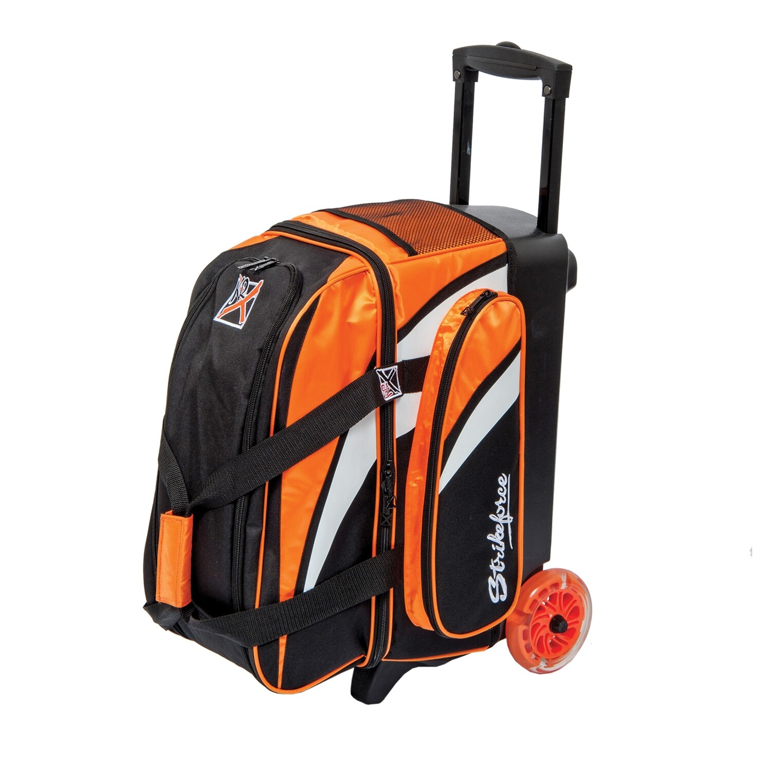 KR Strikeforce Cruiser Orange/White/Black 2 Ball Roller Bowling Bag