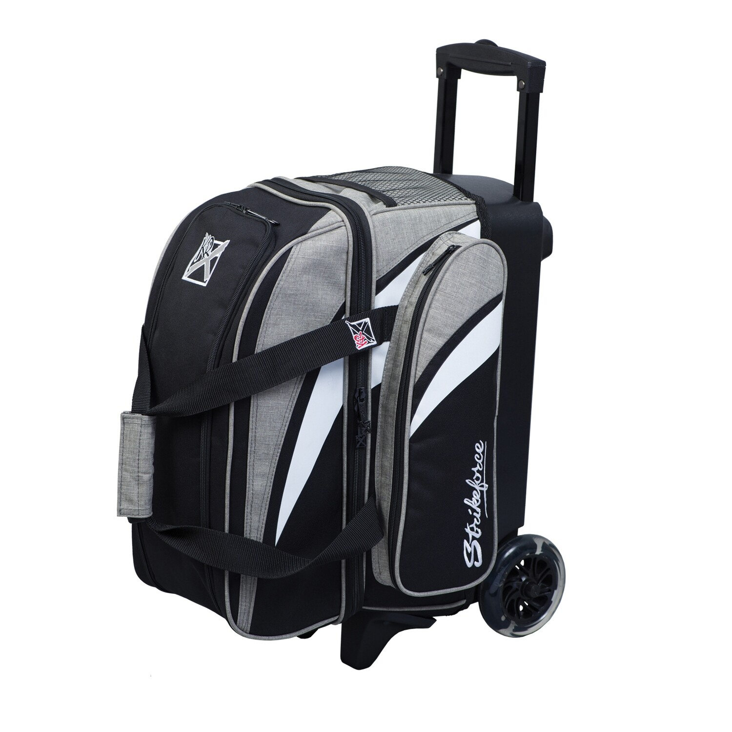 KR Strikeforce Cruiser Stone/Black 2 Ball Roller Bowling Bag