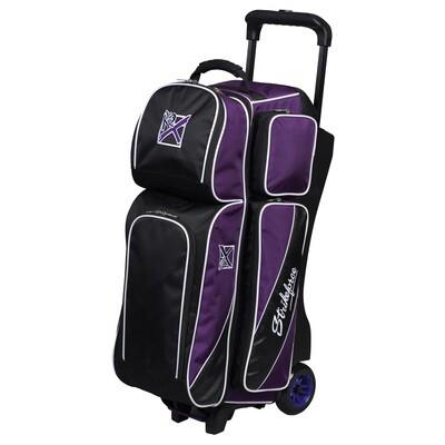 KR Strikeforce Fast Purple/Black 3 Ball Roller Bowling Bag