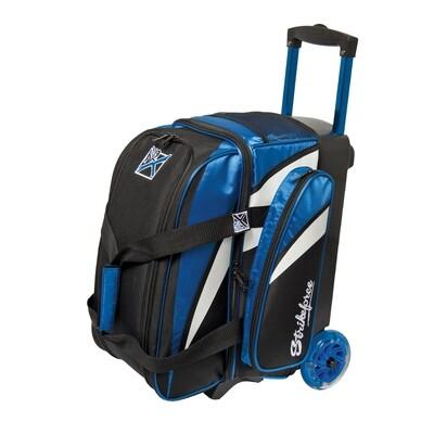 KR Strikeforce Cruiser Blue/Black/White 2 Ball Roller Bowling Bag