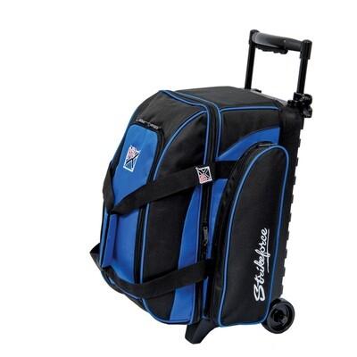 KR Strikeforce Eliminator Black/Blue 2 Ball Roller Bowling Bag