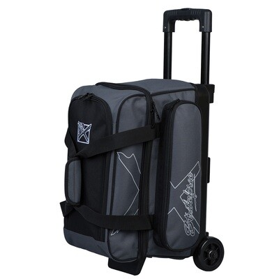 KR Strikeforce  Hybrid X Charcoal 2 Ball Roller Bowling Bag