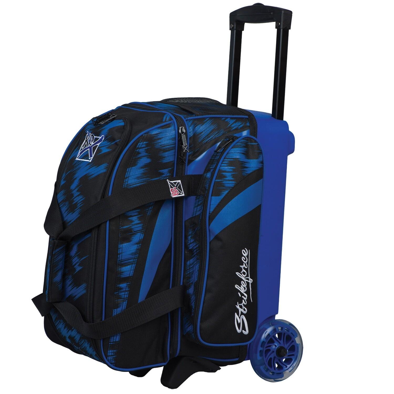 KR Strikeforce Cruiser Scratch Blue/Black 2 Ball Roller Bowling Bag