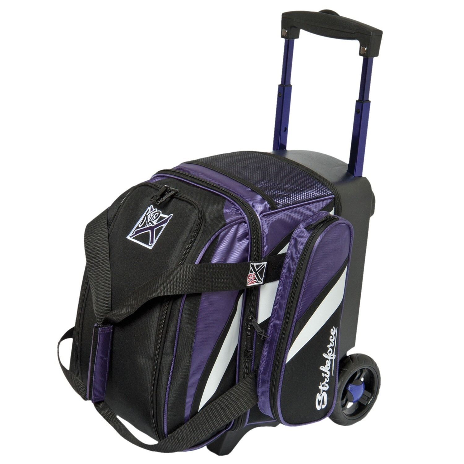 KR Strikeforce Cruiser Purple/White/Black1 Ball Roller Bowling Bag
