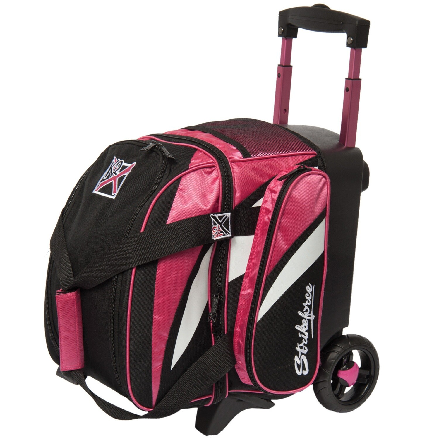KR Strikeforce Cruiser Pink/White/Black 1 Ball Roller Bowling Bag