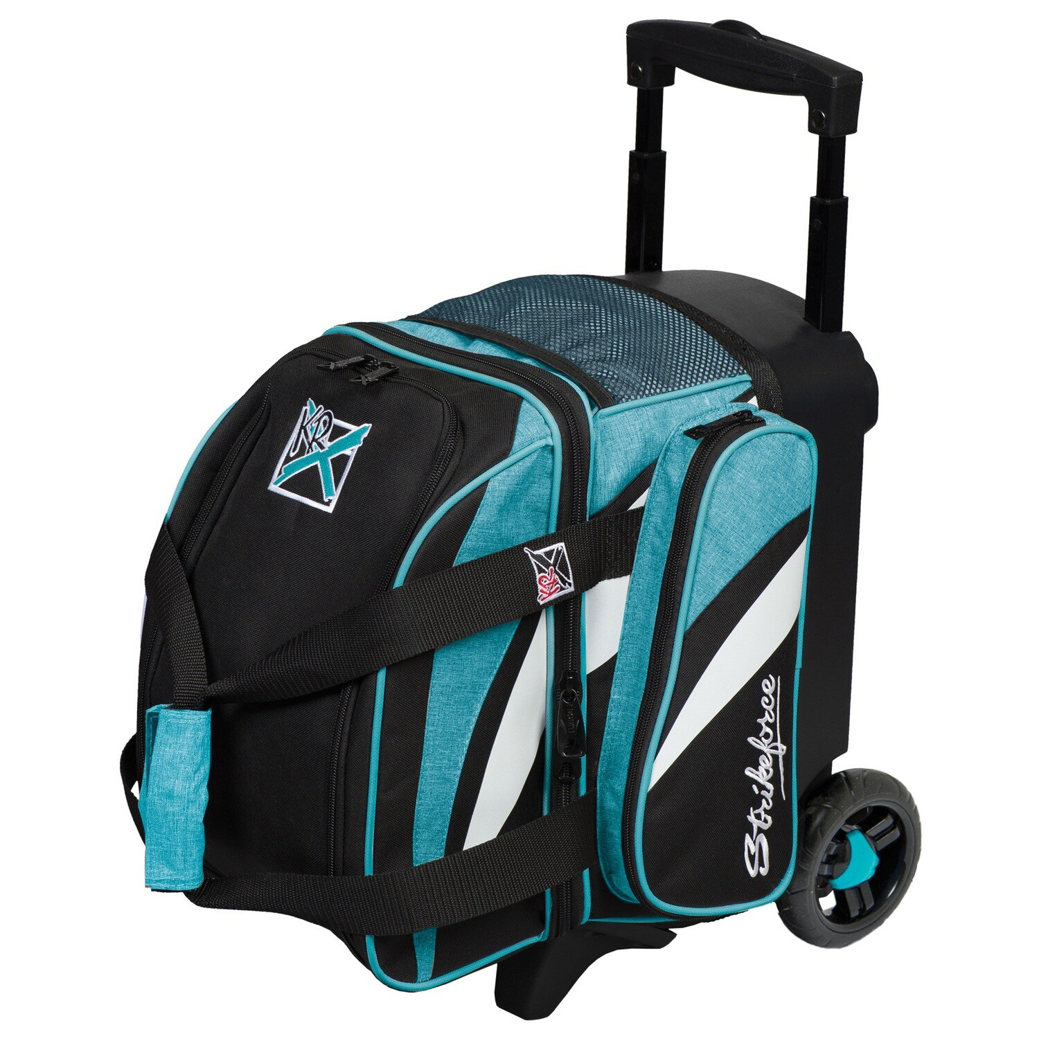 KR Strikeforce Cruiser Teal/White/Black 1 Ball Roller Bowling Bag