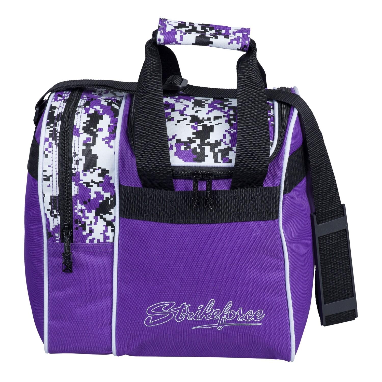 KR Strikeforce Rook Purple Digi Camo Single Tote Bowling Bag