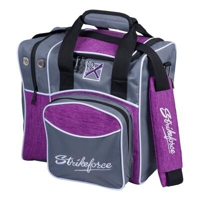 KR Strikeforce Grey/Purple Flexx Single Tote Bowling Bag