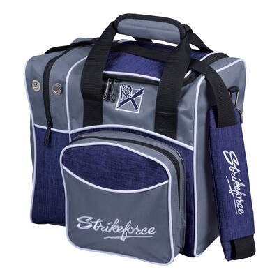 KR Strikeforce Grey/Navy Flexx Single Tote Bowling Bag