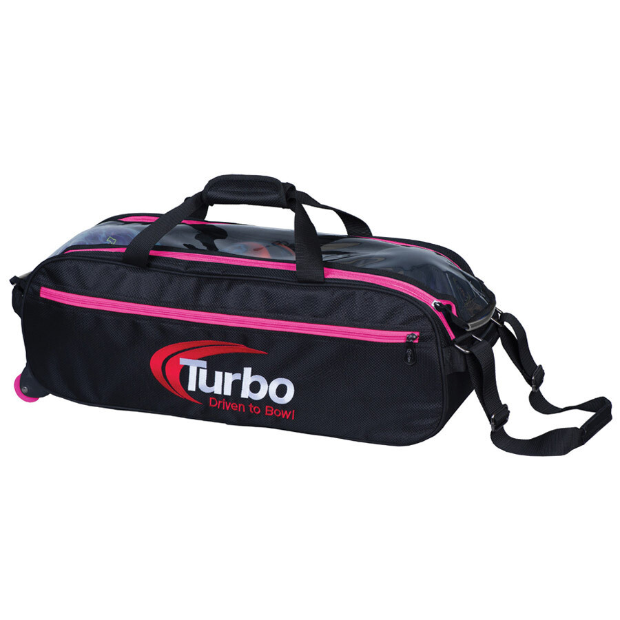 Turbo Pursuit Pink 3 Ball Tote Bowling Bag