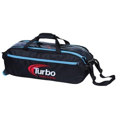 Turbo Pursuit Blue 3 Ball Tote Bowling Bag