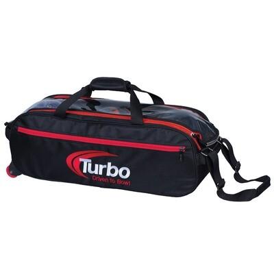 Turbo Pursuit Black/Red 3 Ball Tote Bowling Bag