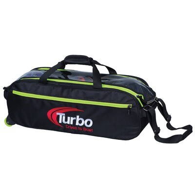 Turbo Pursuit Lime Green 3 Ball Tote Bowling Bag