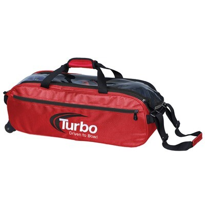 Turbo Pursuit Red 3 Ball Tote Bowling Bag