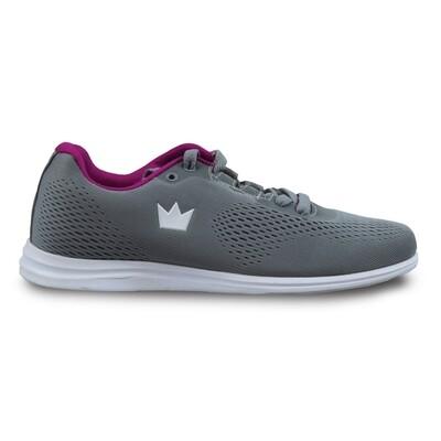 Brunswick Axis Grey/Black Womens Bowling Shoes
