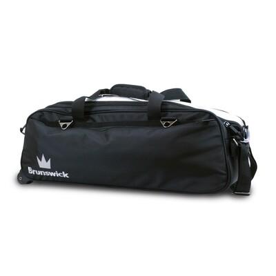 Brunswick Combat Black 3 Ball Tote Bowling Bag