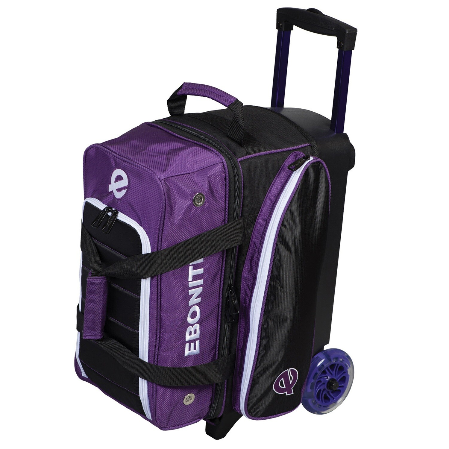 Ebonite Eclipse Purple 2 Ball Roller Bowling Bag