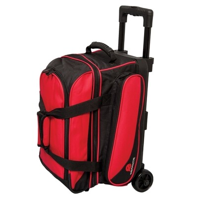 Ebonite Transport Red 2 Ball Roller Bowling Bag