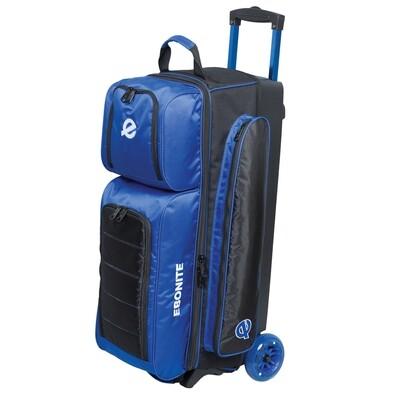 Ebonite Eclipse Blue/Black 3 Ball Roller Bowling Bag