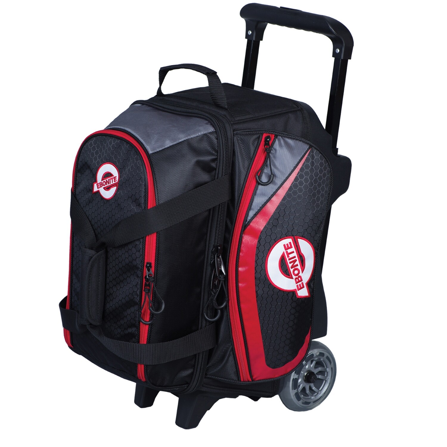 Ebonite Players Red/Black 2 Ball Roller Bowling Bag