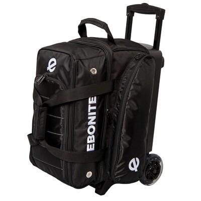 Ebonite Eclipse Black 2 Ball Roller Bowling Bag