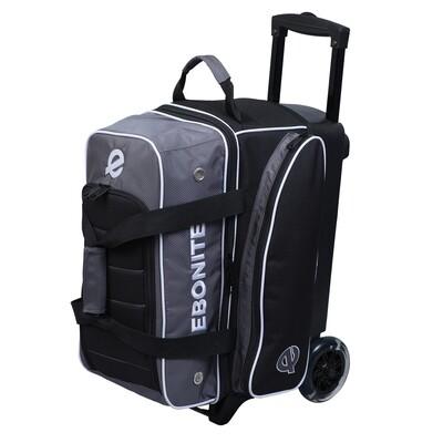 Ebonite Eclipse Black/Smoke 2 Ball Roller Bowling Bag
