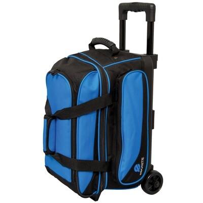 Ebonite Transport Blue 2 Ball Roller Bowling Bag