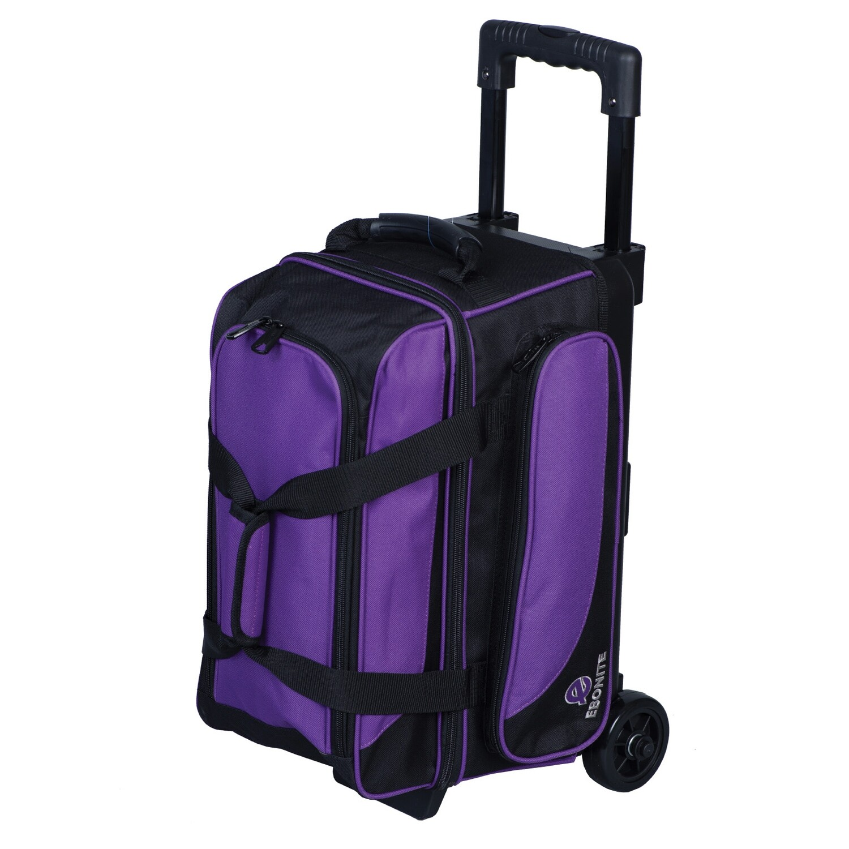 Ebonite Transport Purple 2 Ball Roller Bowling Bag