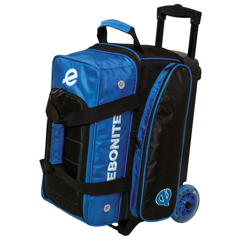 Ebonite Eclipse Black/Blue 2 Ball Roller Bowling Bag