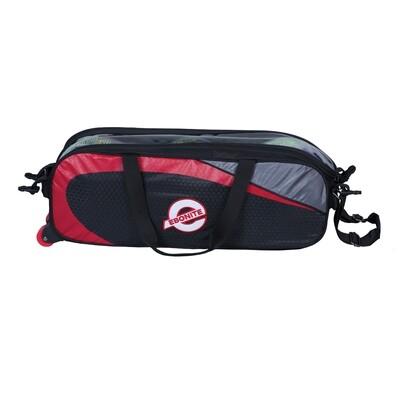 Ebonite Players Black/Red Slim Triple 3 Ball Tote Bowling Bag