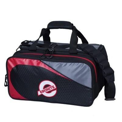 Ebonite Players Black/Red 2 Ball Tote Bowling Bag