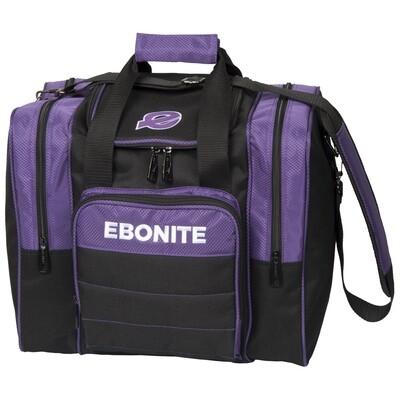 Ebonite Impact Plus Purple/Black 1 Ball Bowling Bag