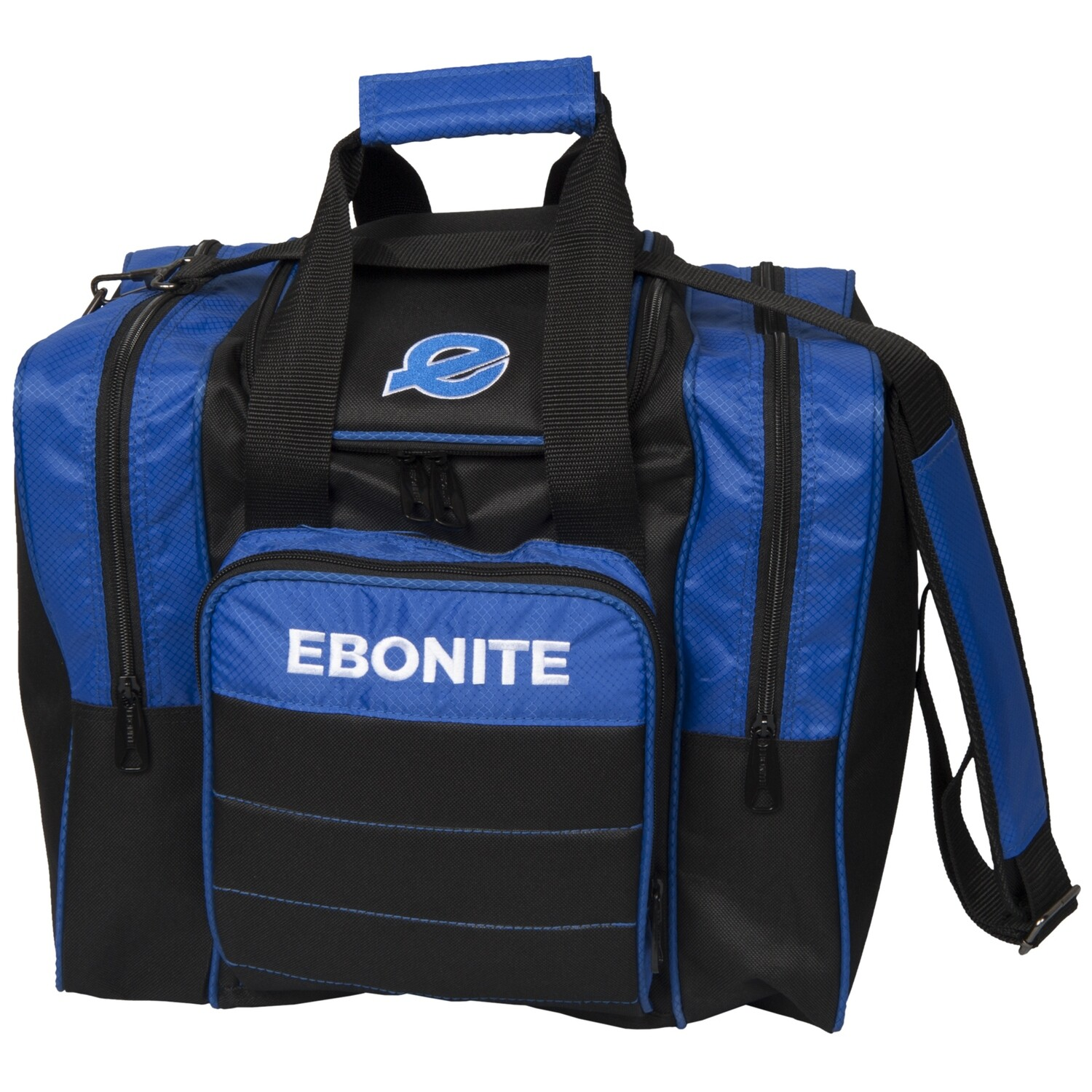 Ebonite Impact Plus Black/Blue 1 Ball Bowling Bag