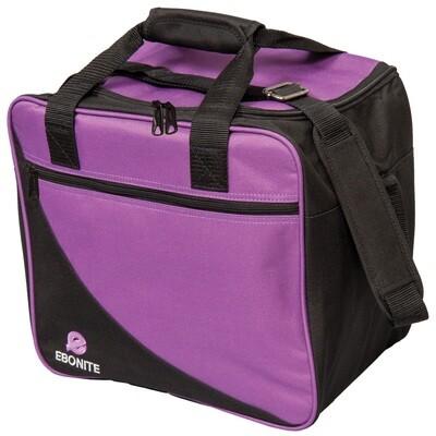 Ebonite Basic Single Purple/Black 1 Ball Bowling Bag
