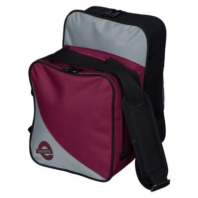 Ebonite Compact Single Black Cherry/Silver 1 Ball Bowling Bag