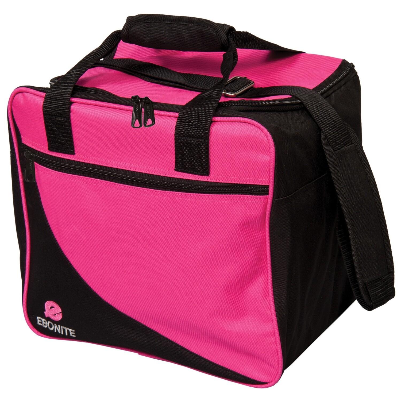 Ebonite Basic Single Pink/Black 1 Ball Bowling Bag