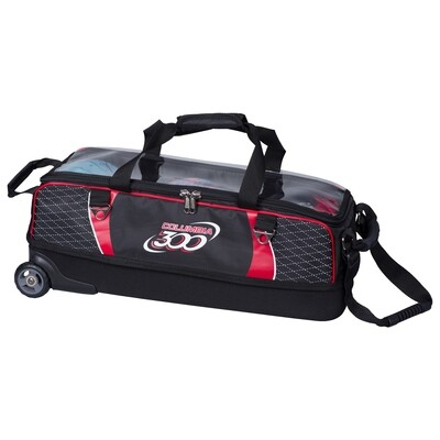 Columbia Team Columbia Red/Black Slim Triple 3 Ball Tote