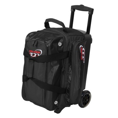 Columbia Icon Black 2 Ball Roller Bowling Bag