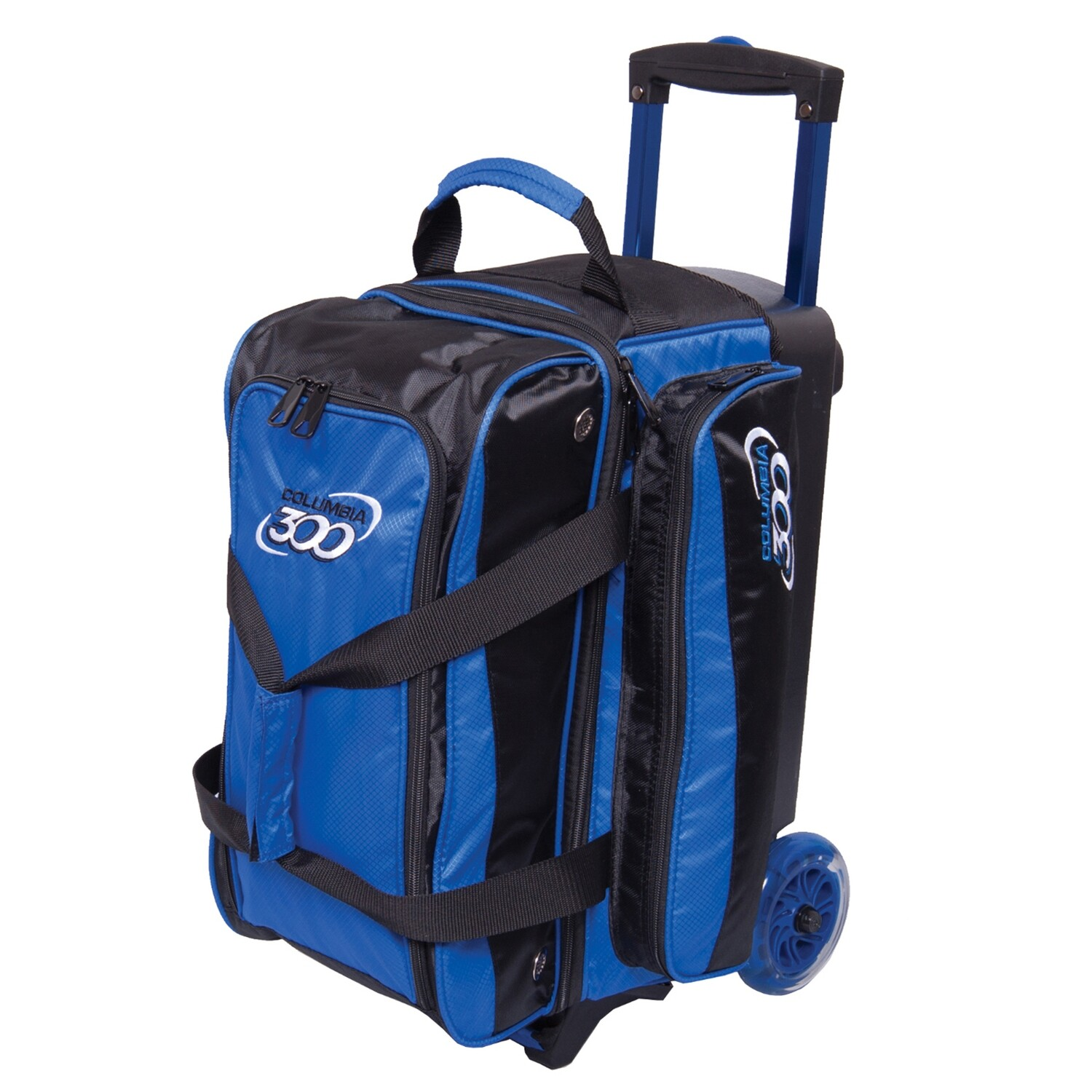Columbia Icon Black/Blue 2 Ball Roller Bowling Bag