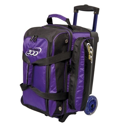 Columbia Icon Black/Purple 2 Ball Roller Bowling Bag