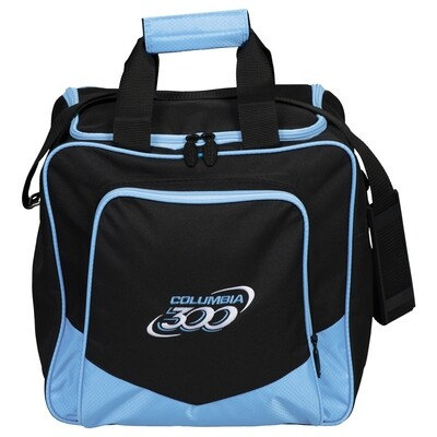Columbia White Dot Single Black/Sky Blue 1 Ball Bowling Bag