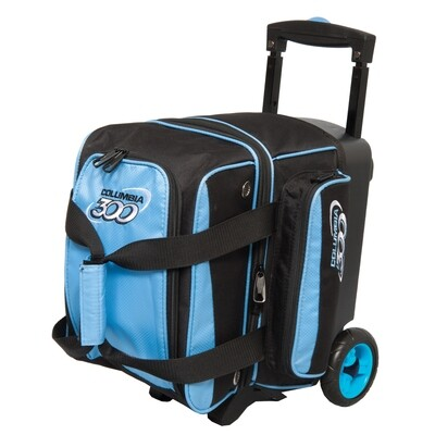 Columbia Icon Black/Sky Blue 1 Ball Roller Bowling Bag