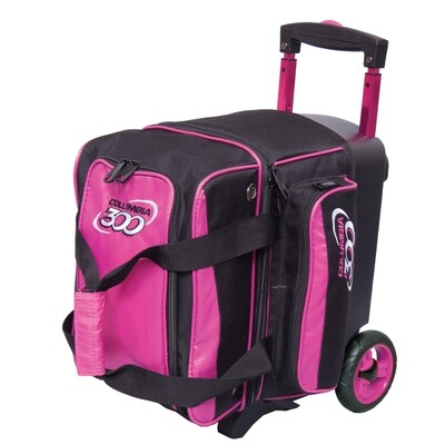 Columbia Icon Black/Pink 1 Ball Roller Bowling Bag