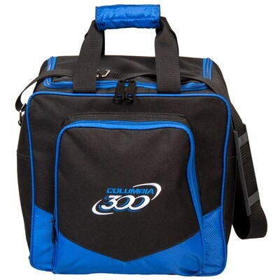 Columbia White Dot Single Black/Blue 1 Ball Bowling Bag