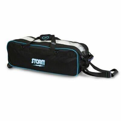 Storm Tournament 3 Ball Tote Black/Blue Bowling Bag