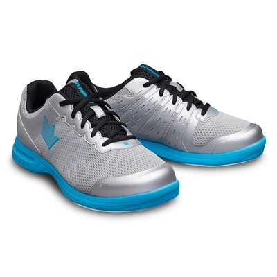 Brunswick Fuze Silver/Blue Mens Bowling Shoes