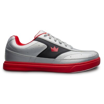 Brunswick Renegade Flash Silver/Red Mens Bowling Shoes