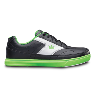 Brunswick Renegade Black/Neon Green Youth Boys Bowling Shoes
