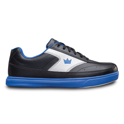 Brunswick Renegade Black/Blue Wide Width Mens Bowling Shoes